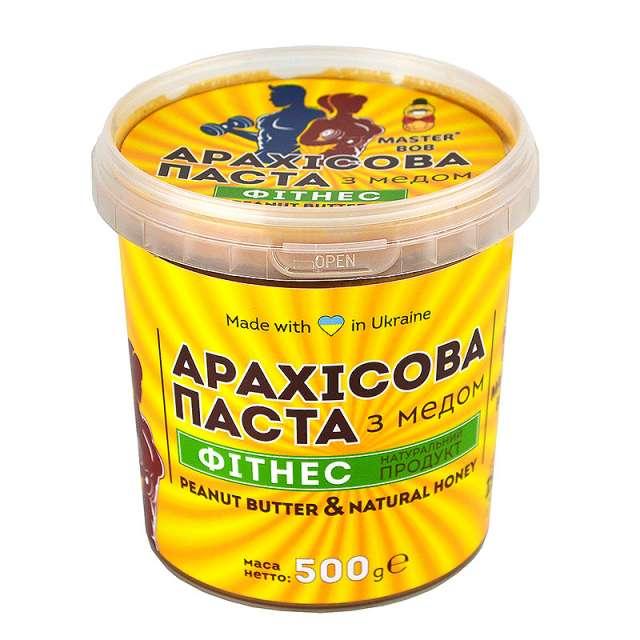 Купить Арахисовая паста Фитнес с мёдом. Магазин натуральные продукты ЯТНА.