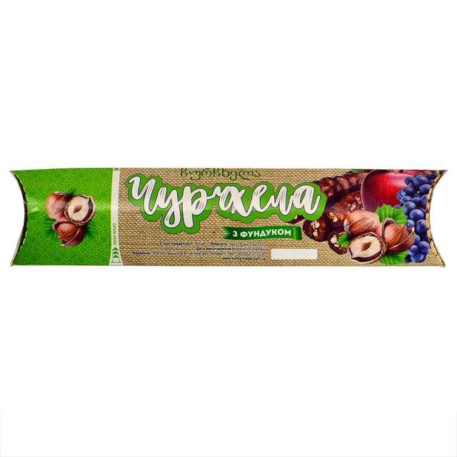 Купить грузинская чурчхела фундук в виноградно-яблочном соке. Магазин натуральные продукты ЯТНА.