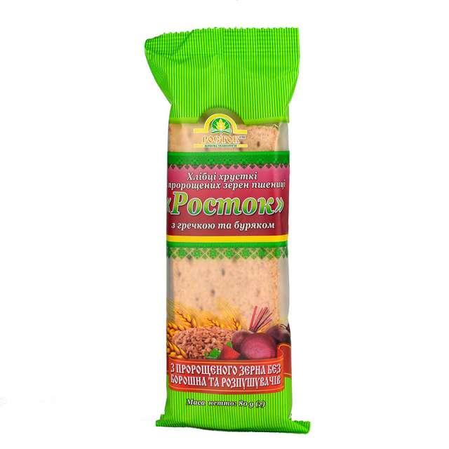 Купить Хлебцы Росток с гречкой и свеклой. Магазин натуральные продукты ЯТНА.