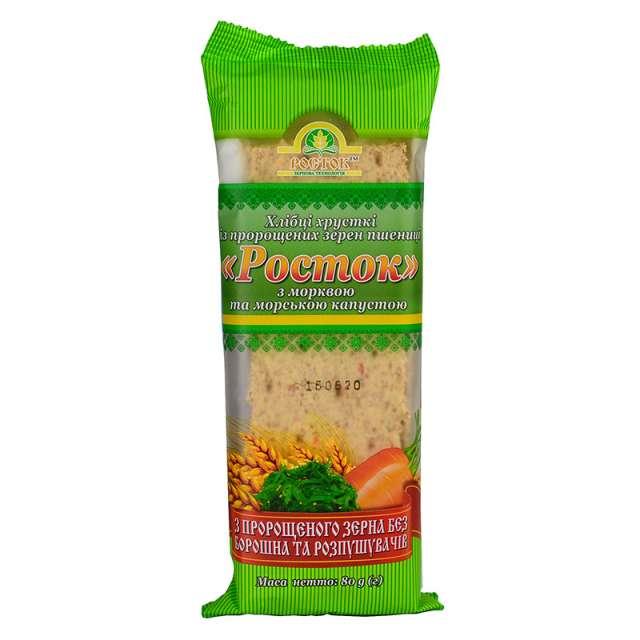 Купить Хлебцы Росток с морковью и морской капустой. Магазин натуральные продукты ЯТНА.
