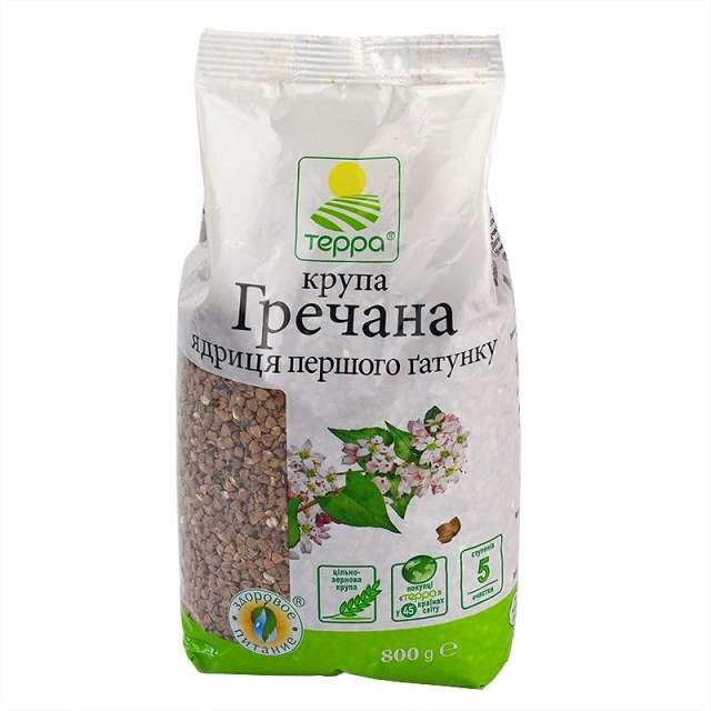 Купить Крупа гречневая Терра ядрица первого сорта. Магазин натуральные продукты ЯТНА.