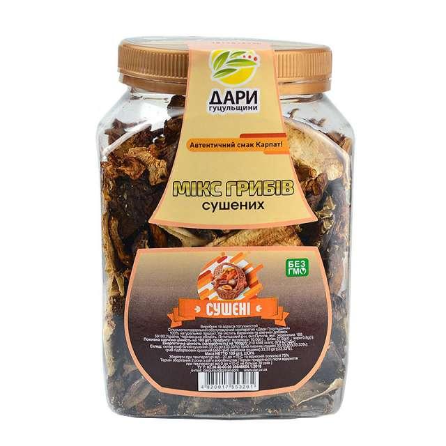 Купить Микс грибов сушеных Дари Гуцульщини. Магазин натуральные продукты ЯТНА.