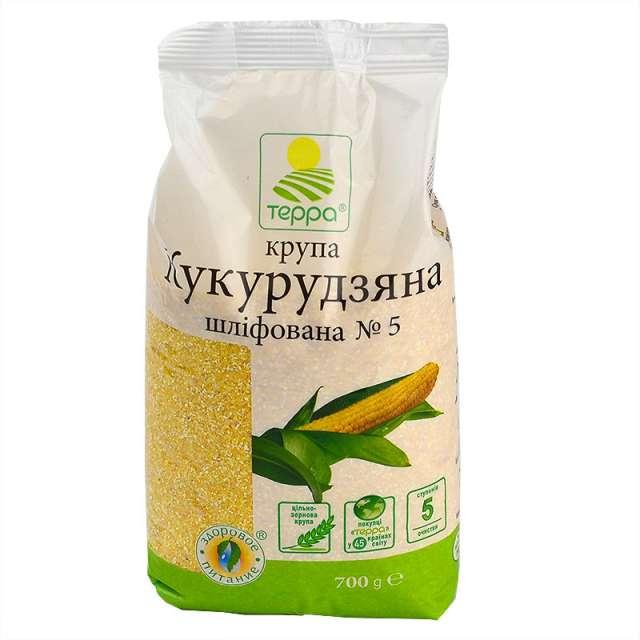 Купить Крупа кукурузная шлифованная Терра. Магазин натуральные продукты ЯТНА.