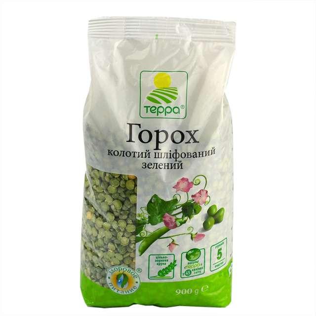 Купить Горох Терра зеленый колотый шлифованный. Магазин натуральные продукты ЯТНА.
