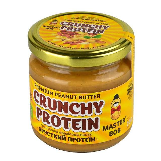Купить Премиальная арахисовая паста Хрустящий протеин Master Bob. Магазин натуральные продукты ЯТНА.