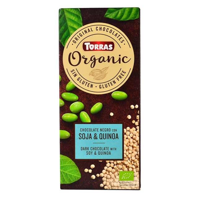 Купить черный шоколад киноа и соя Torras Organic. Магазин натуральные продукты ЯТНА.