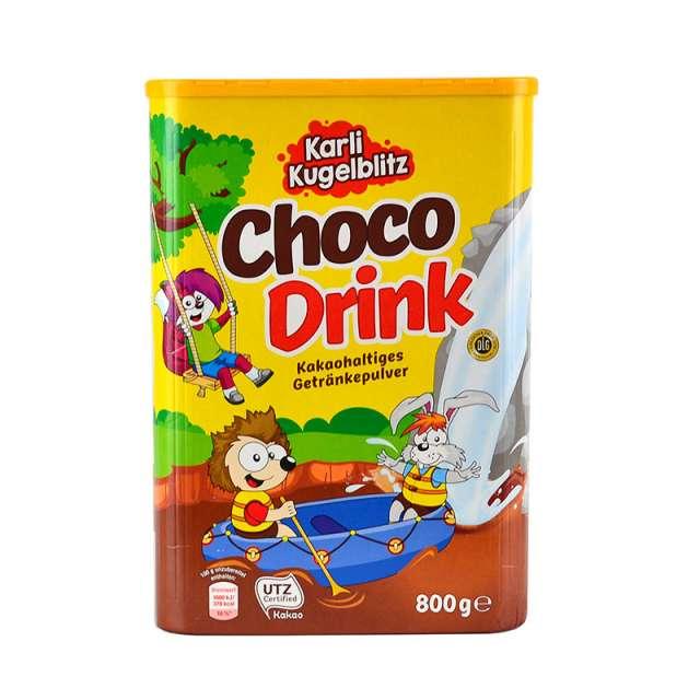 Купить Шоколадный какао напиток Choco Drink Karli Kugelblitz  800г. Магазин натуральные продукты ЯТНА