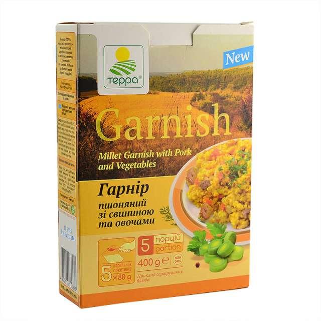Купить Суп-гарнир Терра пшенный со свининой и овощами. Магазин натуральные продукты ЯТНА.