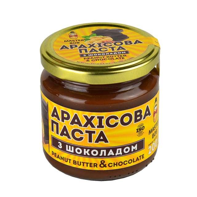 Купить Арахисовая паста с шоколадом Master Bob. Магазин натуральные продукты ЯТНА.