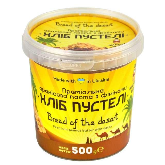 Купить премиальная арахисовая паста с финиками Хлеб пустыни Master Bob. Магазин натуральные продукты ЯТНА.