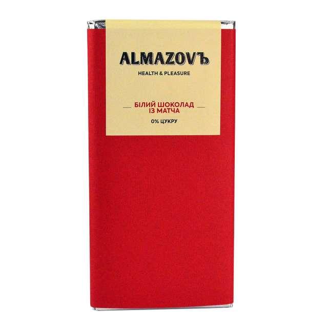 Купить Белый шоколад из матча Almazovъ. Магазин натуральные продукты ЯТНА.