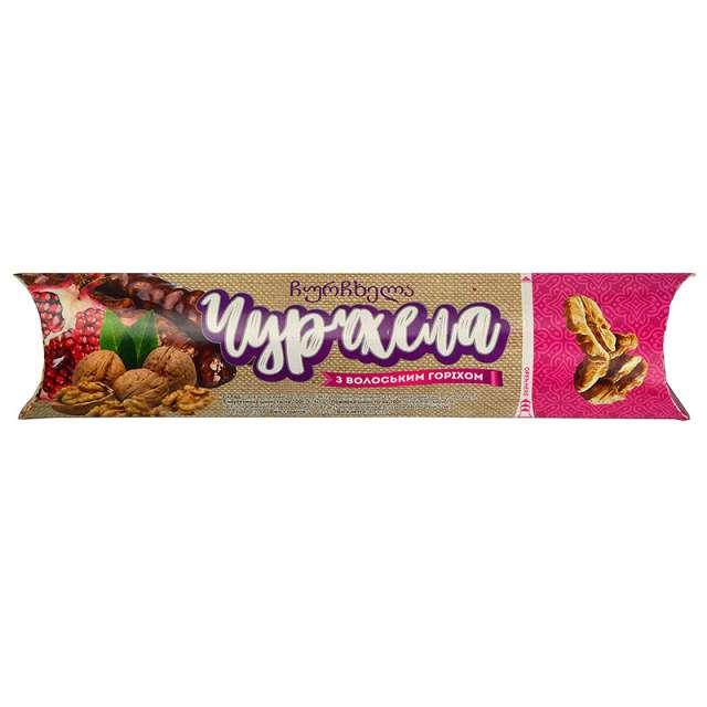 Купить Грузинская чурчхела грецкий орех в гранатовом соке. Магазин натуральные продукты ЯТНА.
