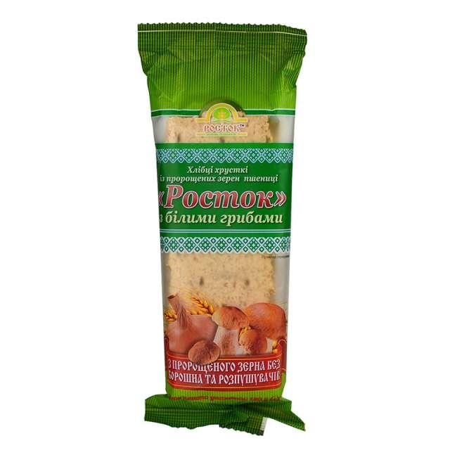 Купить Хлебцы Росток с белыми грибами. Магазин натуральные продукты ЯТНА.