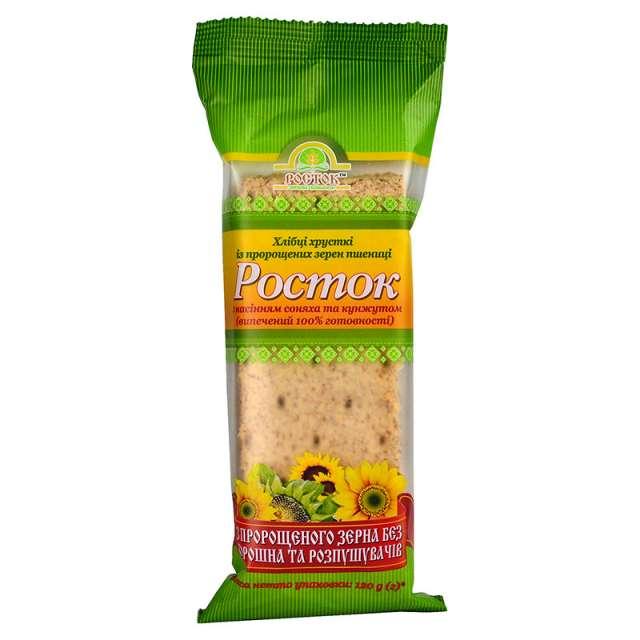 Купить Хлебцы Росток с семечками подсолнуха и кунжута. Магазин натуральные продукты ЯТНА.