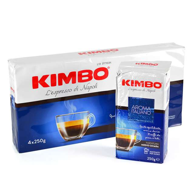 Купить кофе Kimbo Aroma Italiano молотый 250 г.  Магазин натуральные продукты ЯТНА