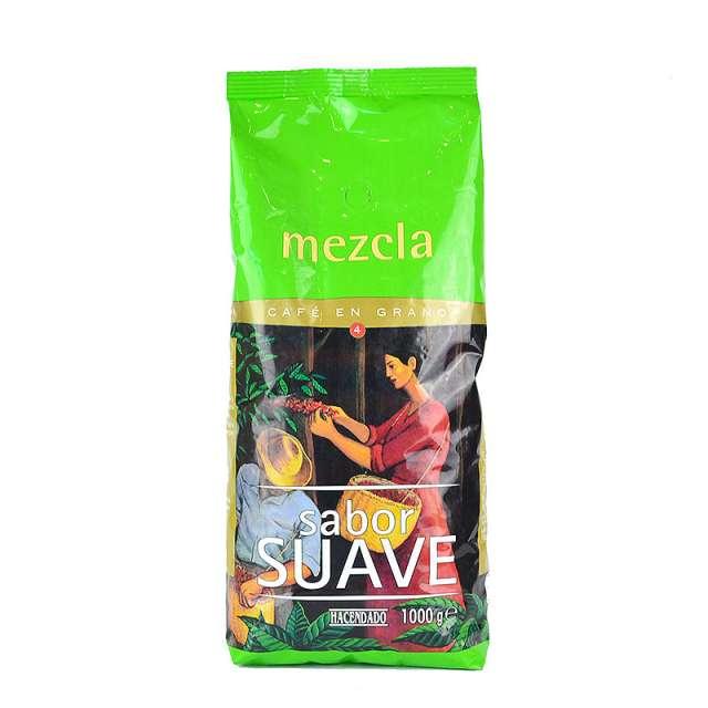 Купить кофе Hacendado Mezcla Sabor Suave в зернах 1кг. Магазин натуральные продукты ЯТНА