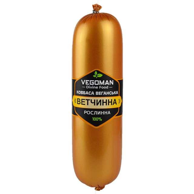 Купить Веганская колбаса без мяса VegaMan Ветчинная Украина. Натуральные веганские растительные колбасы без мяса VegaMan